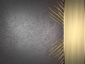 Metallic background with gold ribbon. Design template — Stock Photo