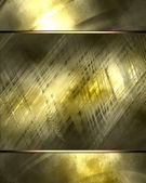 Gold background with gold plate. Design template — Stock Photo
