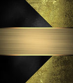 Black background with gold corners. Design template. — Stock Photo