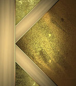 Gold background with gold corners. Design template. — Stock Photo