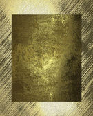 Old gold plate on an abstract background — Stock Photo