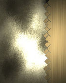 Dirty metal mesh with gold edge. Design template — Stock Photo