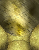 Torn edges on a abstract gold background — Stock Photo