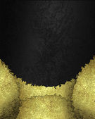 Gold torn edges on a abstract black background — 图库照片