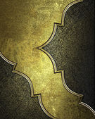 Gold background with scuffed, with cutouts, gold trim — Stock Photo