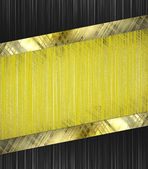 Abstract yellow background with abstract black edged with gold trim — Stock Photo