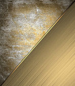 Gold grunge texture with scuffed, with beautiful gold plate. Design template. Design for site — Stock Photo