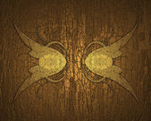 Gilded wood background with gold pattern. Design template. Design site — Stock Photo