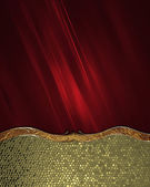 Red abstract background with gold bottom with a beautiful finish. Design template. Design site — Стоковое фото