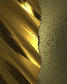 Abstract golden background with gold trim. Design template. Design site — Stock Photo