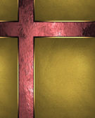 Abstract background of gold leaf with red worn. Design template. Design site — Stock Photo