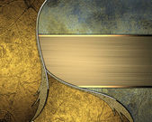 Abstract pattern of gold and metal. Design template. Design site — Stock Photo