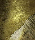 Grunge gold background with a metallic area with gold trim. Design template. Design for site — Foto de Stock