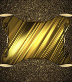 Abstract background of golden sand with a gold cutout with gold border. Design template. Design site — Foto de Stock