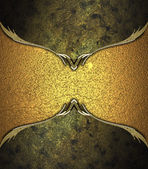 Abstract golden background with dark gold-edged. Design template. Design site — Stock Photo