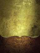 Worn gold background with red bottom. Design template. Design site — Stock Photo