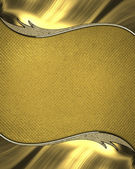 Gold background with yellow nameplate with gold trim. Design template. Design site — Stock Photo