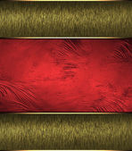Abstract red background c gold edges. Design template. Design site — Stock Photo