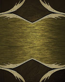 Abstract brown edges with gold frame. Design template. Design site — Stock Photo