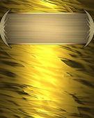 黄金のプレートと抽象的な黄金背景。デザイン テンプレートです。サイトのデザイン — ストック写真
