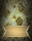 Grunge gold background with gold plate finish. Design template. Design site — Stock Photo