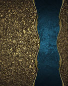 Background of golden sand with blue ribbon. Design template. Design site — Stock Photo