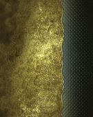 Grunge gold background with a green edge. Design template. Design site — Stock Photo