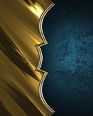 Blue plate with gold plate grunge. Design template. Design site — Stock Photo