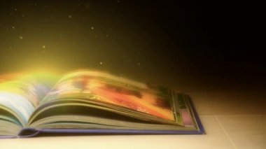 The magic book. Book with magical stories. magic book — Stock Video