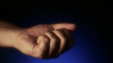 "Icon ""Contact Us"" at the opening a person's palm, ""Contact Us"" in the hand. Contact Us — Vídeo Stock"