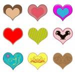 Creative hearts — Stock Photo