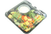 Gebrauchsfertige salat — Stockfoto