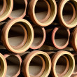 Stoneware pipes — Stock Photo