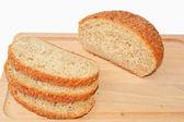 Brown Graham bread — Stock Photo