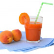 Glass of apricot juice — Stockfoto #27712465