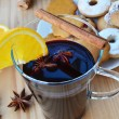 Glass of mulled wine - closeup — Stock Photo