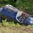 Car wreck abandoned — Stockfoto