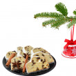 Stock Photo: Jingle bell and holiday cake