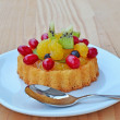 Fruit tart sponge cake — Stock Photo
