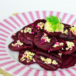Beetroot salad with horseradish — Stock Photo
