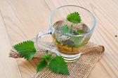 Stinging nettle tea (Urtica dioica) — Stock Photo