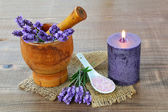 Lavender aromatheraphy — Stock Photo