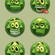 Stock Vector: Vector zombie emoticon
