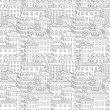 Vector city seamless pattern - Stock Vector