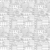 Vector city seamless pattern — Stock Vector