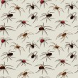 Vector spiders seamless pattern - Stockvectorbeeld
