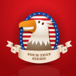 Vector American patriotic eagle — Stock Vector
