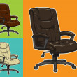 Vector color office chair - Stockvectorbeeld