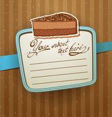 Vector cakes card — Stock Vector