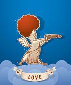 Cupido anjo de vetor — Vetorial Stock